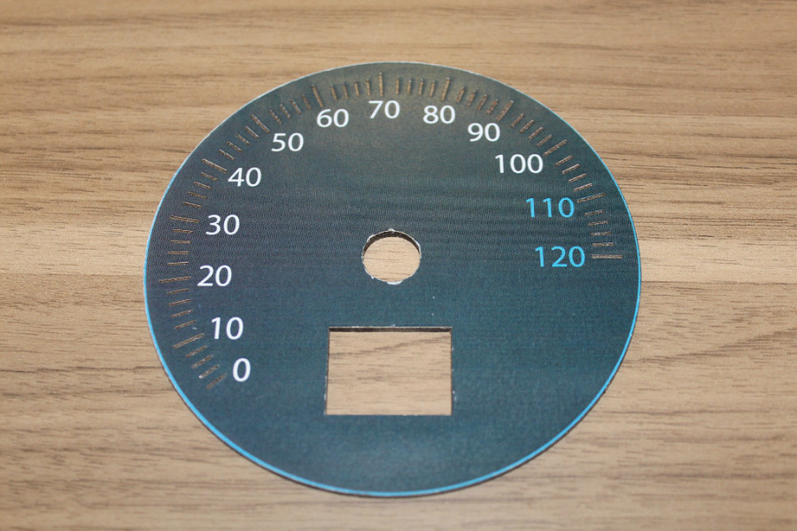 Custom gauge face printout